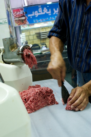 freshly ground meat