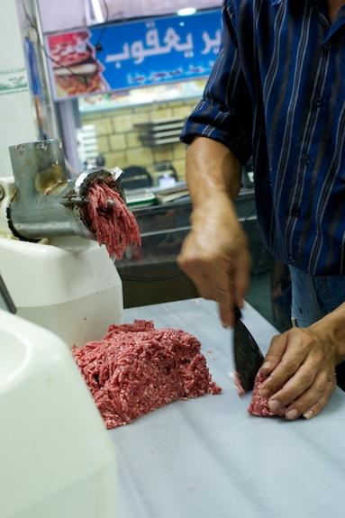 freshly ground meat