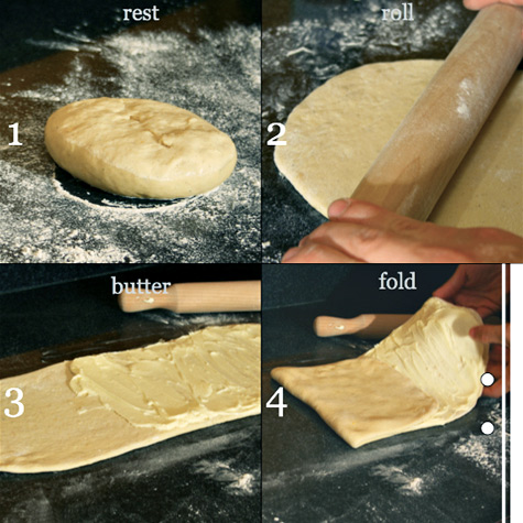 puff pastry dough folding