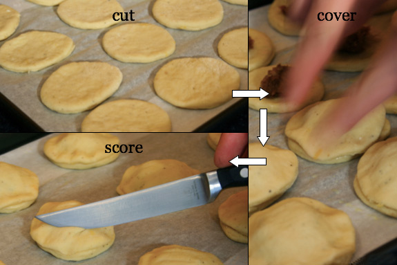 filling the danishes