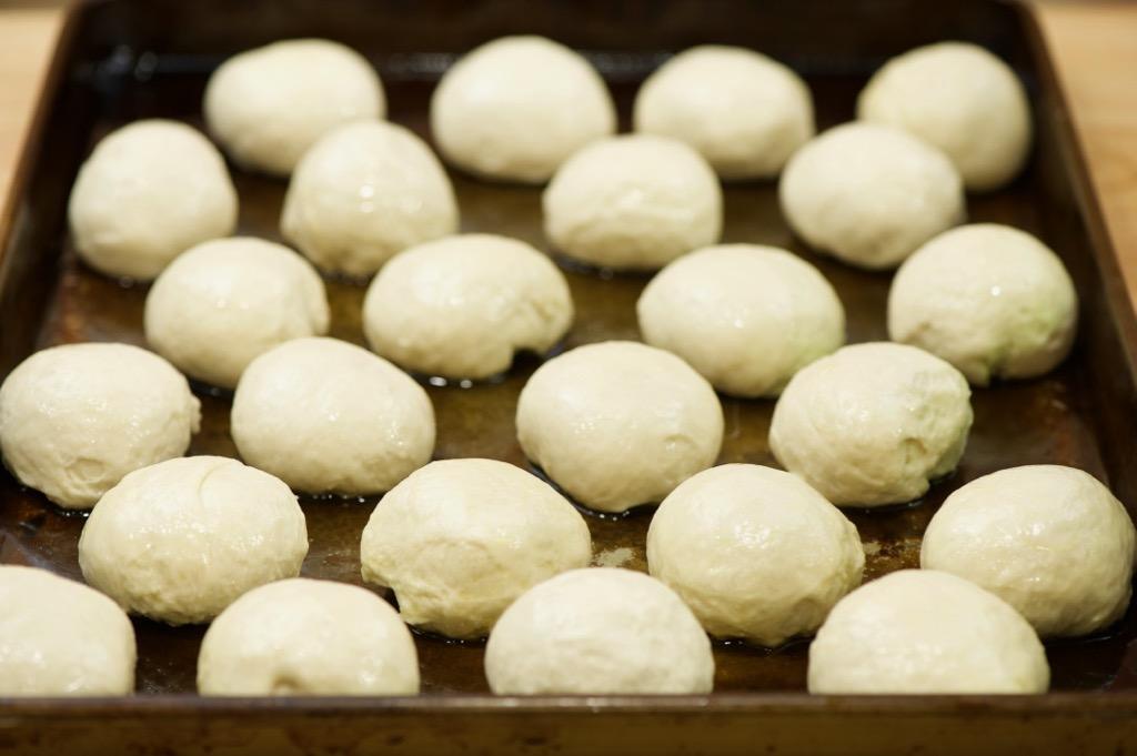 individual dough balls