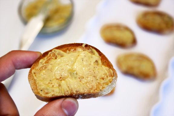 spread the pancetta mayonnaise