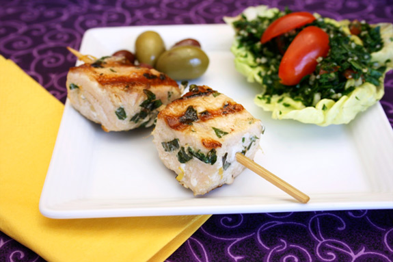 swordfish spedini, tabbouleh & olives