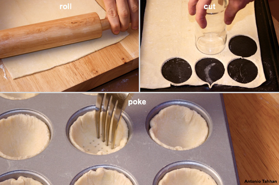 making puff pastry cups