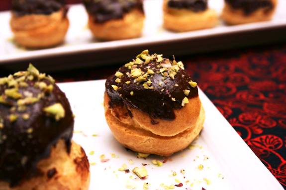 triple nut profiteroles