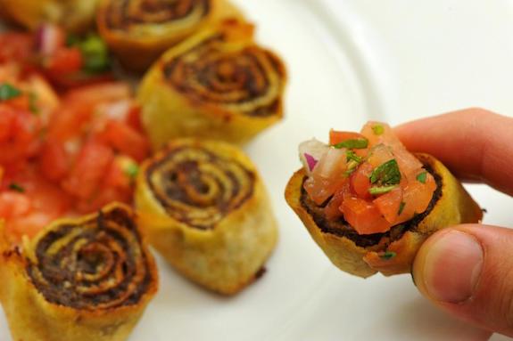 bite of sujuk rolls