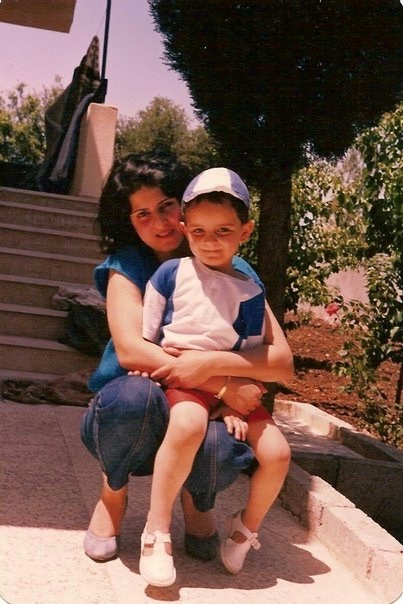 Alan and his mom in Sweida