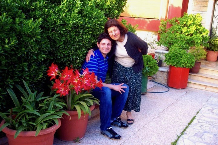 Alan and his Nana (Grandma) Nadia in Sweida